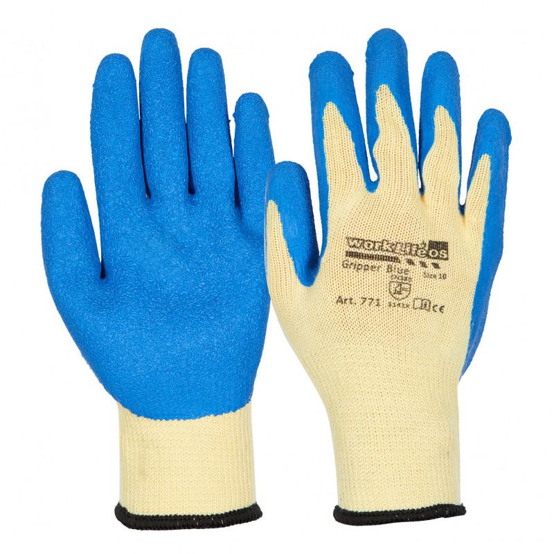 GRIPPER BLUE OS Otto Schachner Latexbeschichtete Handschuhe